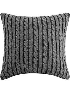 Woolrich Williamsport Square Pillow, 18 by 18-Inch, Black/Grey ❤ E&E Co. Ltd DBA JLA Home