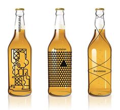 Art Deco Alcohol Bottles - Thorleifur Gunnar Gislason is One of 10 Designers for Thorsteinn Beer (GALLERY)