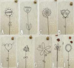 fleurs pour composer soi-même un bouquet végétal - en fil de fer : Accessoires de maison par latelierdesof