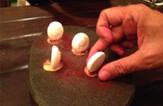 """sobremesa 'Frio Glacial' com nitrogenio liquido que """"queima"""" a boca e faz sair fumaça - Restaurante Boragó - Santiago, Chile"""
