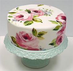 Floral painted icing... Yes