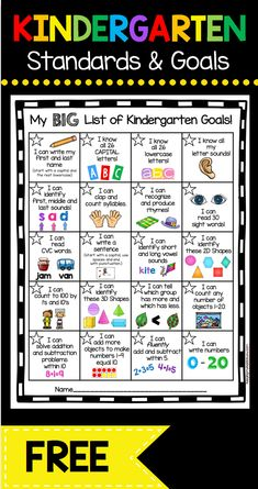 Kindergarten Goal Chart – FREEBIE - awesome incentive for your students to master math and ELA common core standards . and its FREE! Informations About Kindergarten Goal Chart - FREEBIE — Keeping My Kindergarten Assessment, Kindergarten Readiness, Homeschool Kindergarten, Preschool Learning Activities, Homeschooling, Kindergarten Goal Sheet, Daycare Curriculum, Kindergarten Freebies, Kindergarten Ready Checklist