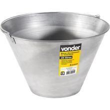 Balde galvanizado para concreto 15 litros Vonder