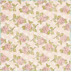 Pretty Things Pink Floral Paper by Marisa Lerin   Pixel Scrapper digital scrapbooking