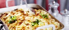 Broileri-savujuustokiusaus Egg Recipes, Chicken Recipes, Cooking Recipes, Food Inspiration, Poultry, Macaroni And Cheese, Nom Nom, Food And Drink, Baking