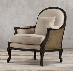 Lyon Chair with Burlap