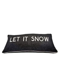 Let It Snow Cushion. Available at Nina's House on the King's Road, London or at ninashouse.com