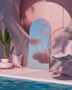 Ästhetisches Design, Deco Design, House Design, Minimalist Architecture, Interior Architecture, Interior And Exterior, Aesthetic Rooms, Pink Aesthetic, Modelos 3d
