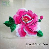 Patches Wholesale  5pc Nice Flower Stickers Embroidered Iron On Patches for Clothing Bag New DIY Accessory Garment Applique A206