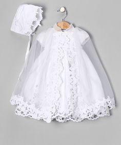 Lida White Eyelet Bow Dress Set - Infant, Toddler & Girls | zulily