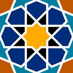Patrón Islámico -  Patrón Islámico como los azulejos de la Alhambra, en la mezquita de Córdoba.