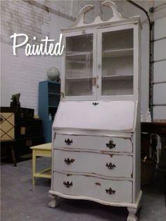 Painted Antique Secretary.