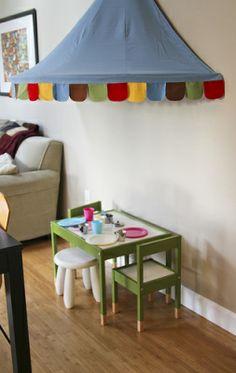 Painted Ikea Latt Table & Mysig Canopy
