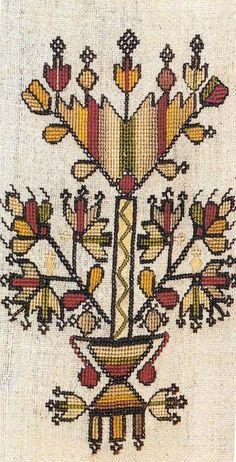 Free Knitting Pattern for Easy Jutka Cardigan - Short sleeved garter stitch card. Folk Embroidery, Ribbon Embroidery, Embroidery Patterns, Knitting Patterns, Greek Traditional Dress, Bordado Popular, Wedding Cross Stitch Patterns, Art And Craft Design, Cross Stitch Heart