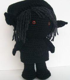 Dark Link Shadow Link Legend of Zelda Crochet Doll. $47.50, via Etsy.