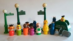 Fisher Price Toys, Vintage Fisher Price, Sesame Street Characters, Garbage Truck, Toddler Toys, Little People, Puppets, Pantry, Nostalgia