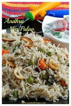 whole spice fragrant rice pulao Paneer Recipes, Rice Recipes, Indian Food Recipes, Cooking Recipes, Veg Pulao Recipe, Food Lab, Food Food, Desi Food, Biryani