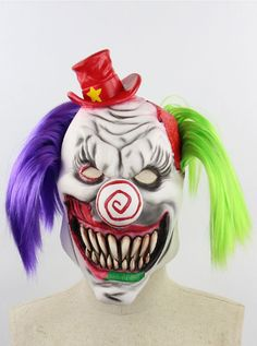 Halloween Scary Face Clown Mask Stage Bar Party Fancy Dress Cosplay Costume Prop