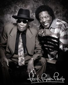 John Lee Hooker & Buddy Guy by Maryanne Bilham #JohnLeeHooker #BuddyGuy www.RockPaperPhoto.com