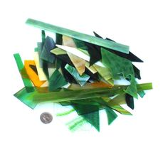 Stained Glass Scraps Green Mix Yellow For by midnightcoiler