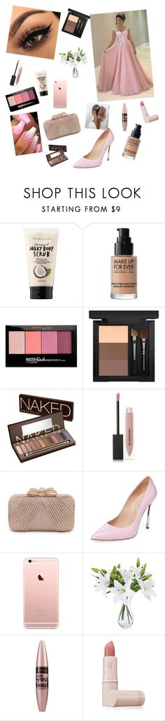 """""""Prom"""" by courtneyholden ❤ liked on Polyvore featuring beauty, Sephora Collection, MAKE UP FOR EVER, Maybelline, MAC Cosmetics, Urban Decay, Burberry, La Regale, Casadei and Love Couture"""