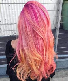 Beauty: Fantasy U… Beauty: Fantasy Unicorn Purple Violet Red Cherry Pink yellow Bright Hair Colour … Cute Hair Colors, Pretty Hair Color, Bright Hair Colors, Beautiful Hair Color, Hair Dye Colors, Colorful Hair, Dye My Hair, New Hair, Dyed Hair Pink
