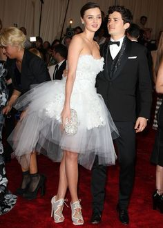 Orlando Bloom and Miranda Kerr attending the 'Alexander McQueen: Savage Beauty' Costume Institute Gala at The Metropolitan Museum of Art on May 2, 2011 in New York City
