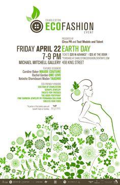 2011 Charleston Eco Fashion Event Poster   #ecofashion #poster