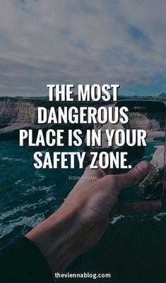 Never choose comfort zone