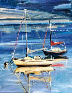 "Daily+Paintworks+-+""Harborview""+-+Original+Fine+Art+for+Sale+-+©+Lauren+Kuhn"