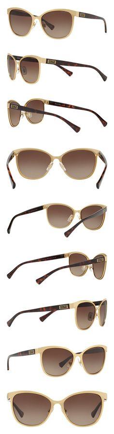 d197411afe12 Ralph Lauren Sunglasses Women's 0ra4118 Cateye, Gold/Dark Tortoise, 54 mm # ralphlauren