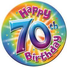 Afbeeldingsresultaat voor 70 jaar.verjaardag
