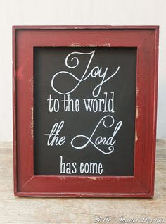 """Christmas Decor Chalkboard Sign - """"Joy to the World"""" by Belle Amour Designs"""