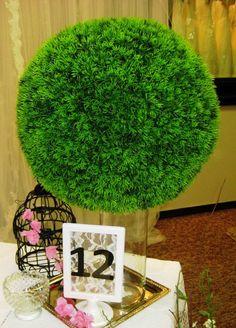 Grass Spheres #greenery #display #weddingvignettes #gifttable #partydecor #eventrentals #centerpieces #propsforhirepuyallup