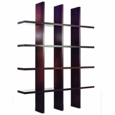 Tag Tic Tac Toe Java Oak Tall Bookcase - Bookcases   Shelving - Living = 201 Main; 63 inches wide