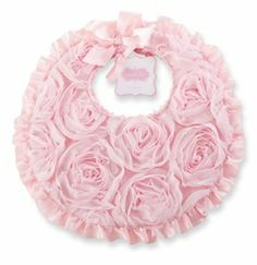 Mud Pie Clothing- Mud Pie Chiffon Rosette Bib - Find|Buy|Shop|Compare|LollipopMoon.com only $15.95 - Newborn Baby Clothes