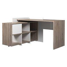 Tvilum Watson Desk with 6 Shelf Bookcase