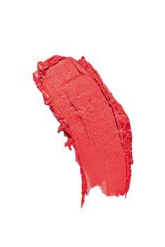 Coral Red Lipstick Smudge
