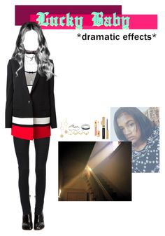 """""""StarZ _ Lucky Baby M/V [Mari.A's Scene]"""" by starz-official ❤ liked on Polyvore featuring Vetements, Dolce&Gabbana, Givenchy, Cloverpost, Fallon, Apples & Figs, Dana Buchman and Franklin"""