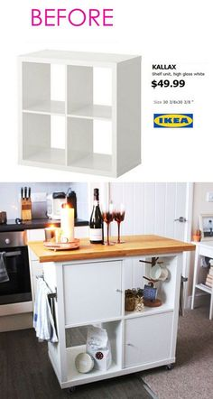 Smart and Gorgeous IKEA Hacks: save time and money with functional designs and beautiful transformations. Great ideas for every room such as IKEA hack bed, desk, dressers, kitchen islands, and more! - A Piece of Rainbow home Smart and Gorgeous Ikea Hacks Ikea Hacks, Diy Hacks, Ikea Bed Hack, Ikea Billy Hack, Küchen Design, House Design, Design Ideas, Ikea Design, Design Tutorials