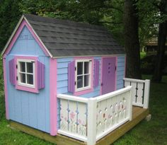 Free plans to build this house (and many others) Definitely Daddy's next project after he finishes my entry piece!