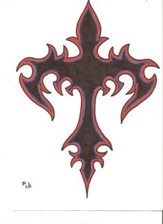 tribal cross by on DeviantArt Cool Tattoo Drawings, Cool Tattoos, Body Art Tattoos, Tribal Tattoos, Tattoo Art, Cross Wallpaper, Tattoo Stencils, The Draw, Skull Art