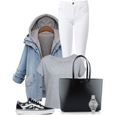 A fashion look from October 2015 featuring Amaya jackets, Vans sneakers and Yves Saint Laurent tote bags. Browse and shop related looks.
