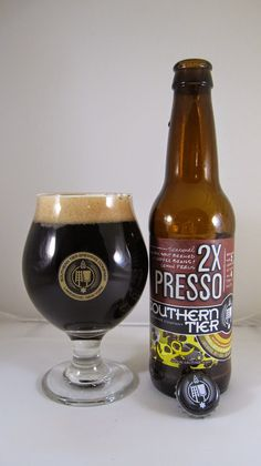 Southern Tier 2XPresso -- Deep brown/black hue, nearly opaque with some translucent highlights. Deeply roasted coffee and dark chocolate. Not sweet. It starts out with a strong note of dark chocolate; reminiscent of higher-end gourmet chocolate. Nearly as bitter as it is sweet. Through the middle, the hops kick in with a firm dry bitterness. On the finish the espresso character bursts through and creates for a tasty coffee flavor that's quite bitter but really bold and refined.