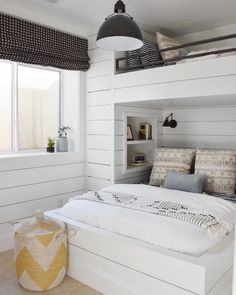 15 Gorgeous Designs For Bunk Beds, Loft Bed, Built Ins, Bunks, Bedding Inspiration, Bed Design, Home, Bunk Beds Built In, Room