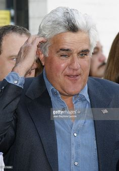 Comedian Jay Leno honors Howie Mandel on the Hollywood Walk of Fame on September…