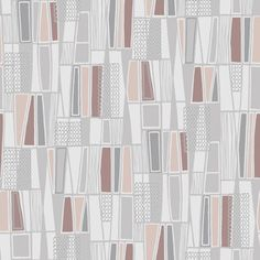 Go retro in your living space with the Borastapeter Taavi Retro Geometric Wallpaper . A mix of geometric shapes in your choice of available colors give. Geometric Wallpaper Grey, Grey Wallpaper Samples, Charcoal Wallpaper, Embossed Wallpaper, Wallpaper Panels, Trendy Wallpaper, Print Wallpaper, Floral Wallpapers, Hallway Wallpaper