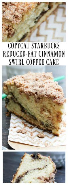 Copycat Starbucks Reduced-Fat Cinnamon Swirl Coffee Cake - A Dash of Sanity