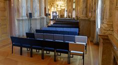 Created by #SodaDesigners and made by Wittmann, the #BurgStuhl provides seating for visitors to the readings and discussions held in the foyer of the #Burgtheater in #Vienna.