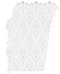 Patrones Crochet de Vestido Punto Piña | Crochet y Dos agujas